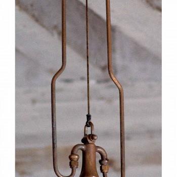 Lampada a sospensione in rame ed ottone anticati Fonderia