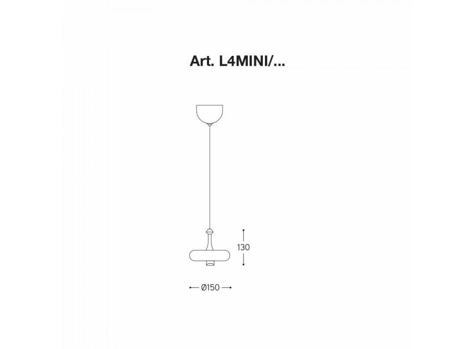 Lampada a Sospensione Made in Italy in Ceramica – Lustrini L4 Aldo Bernardi