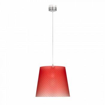 Lampada a sospensione moderna in policarbonato, diametro 42cm, Rania