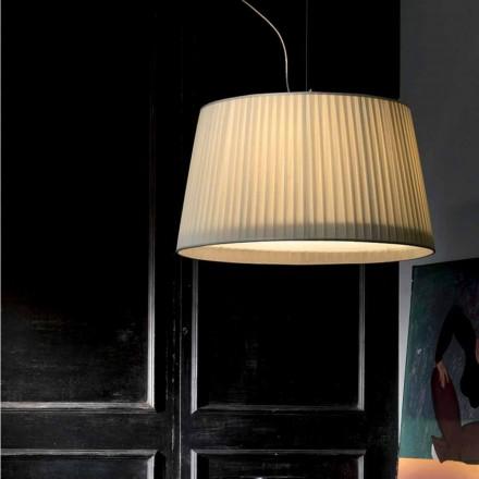 Lampada a sospensione moderna in seta color avorio Bamboo