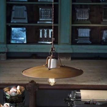 Lampada a sospensione stile industriale artigianale Ferroluce