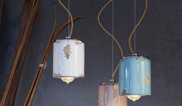 Lampade A Sospensione Vintage : Lampada a sospensione vintage artigianale ferroluce