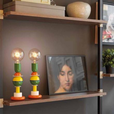 Lampada da tavolo di design in alluminio multicolore Slide Otello Mini