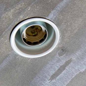 Lampada Artigianale da Incasso in Alluminio Bianco Made in Italy - Frana