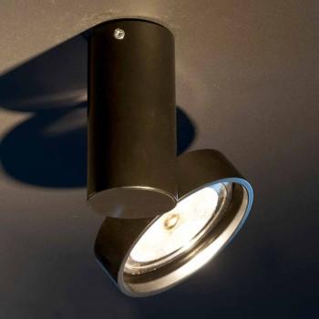 Lampada Artigianale in Alluminio con Anello Orientabile Made in Italy - Gemina