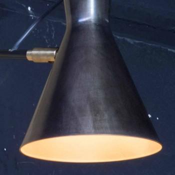 Lampada Artigianale in Ferro con Paralume in Alluminio Made in Italy - Selina