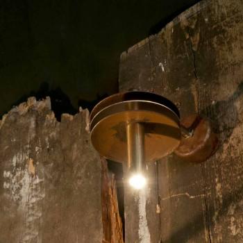 Lampada Artigianale in Ferro Finitura Corten e Ottone Made in Italy - Solano