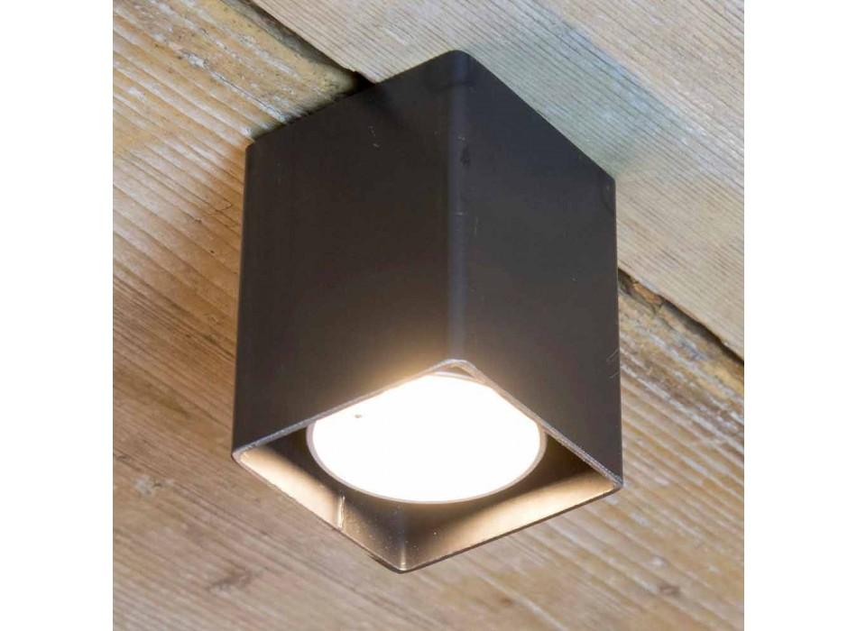 Lampada Artigianale in Ferro Nero dalla Forma Cubica Made in Italy - Cubino