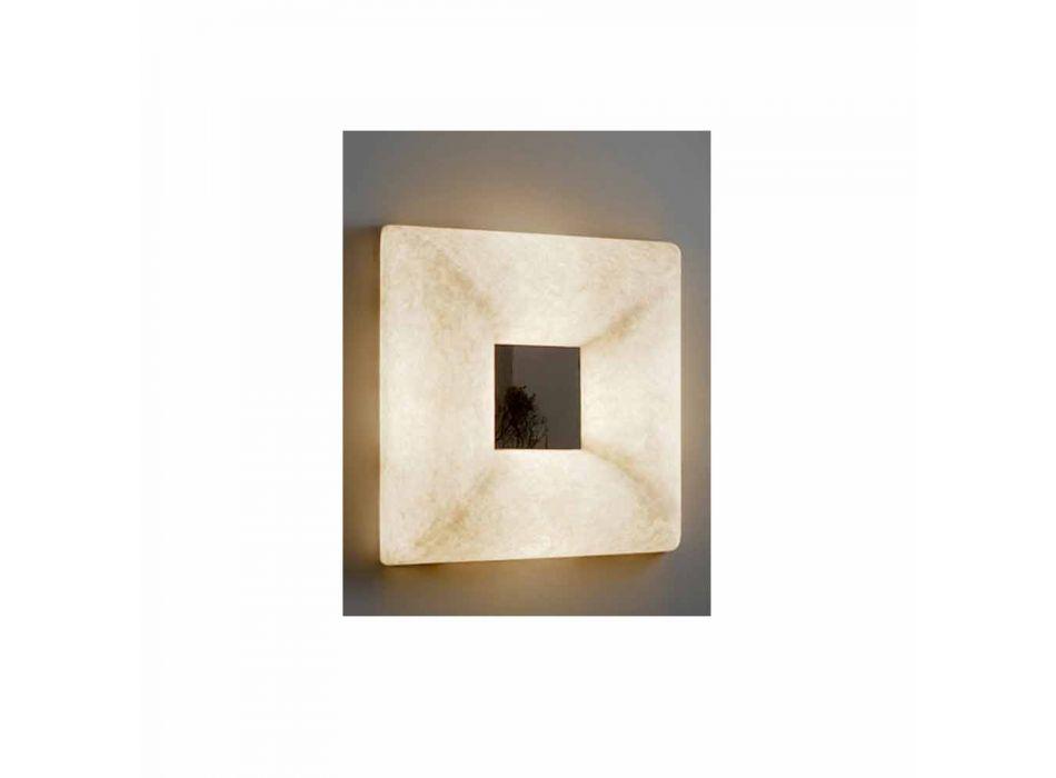 Lampada con specchio a muro di design In-es.artdesign Ego in nebulite