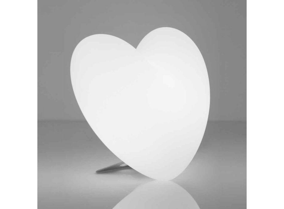 Lampada cuore da tavolo luminosa Slide Love colorata fatta in Italia