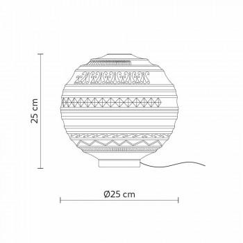 Lampada da Appoggio in Vetro Satinato Bianco e Metallo Design Moderno - Morse