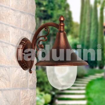 Lampada da esterno a parete in alluminio pressofuso made Italy, Anusca