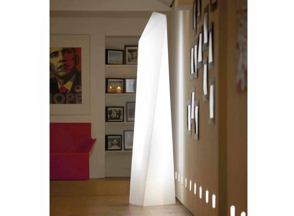 Lampada da esterno a prisma Slide Manhattan luminosa bianca made Italy