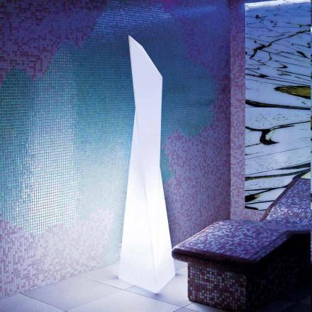 Lampada da esterno bianca a prisma Slide Manhattan, made Italy