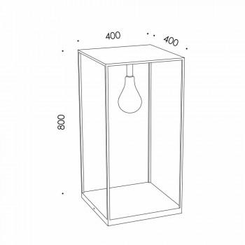 Lampada da Esterno Artigianale in Ferro con LED Integrato Made in Italy - Cubola