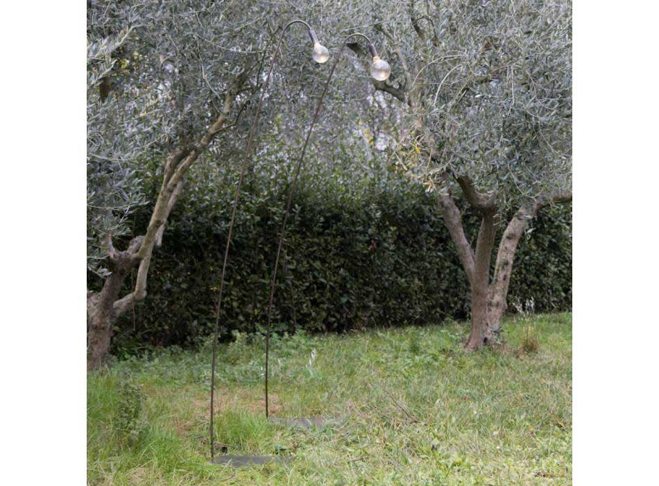 Lampada da Esterno Artigianale in Ferro e Vetro Decorativo Made in Italy - Beba