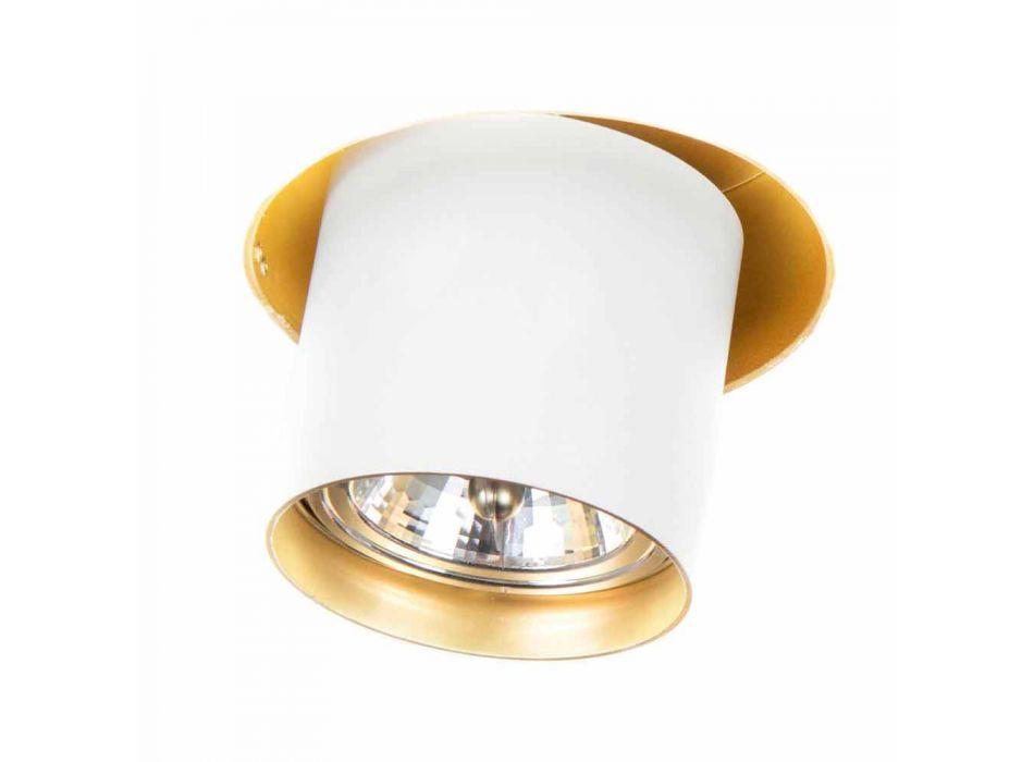Lampada da Incasso Artigianale in Alluminio Orientabile Made in Italy - Adra