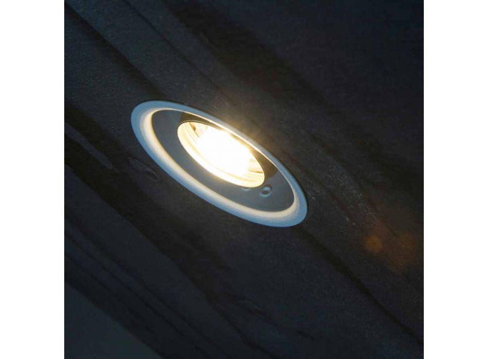 Lampada da Incasso in Alluminio con Vetro Decorativo Made in Italy - Ampolla