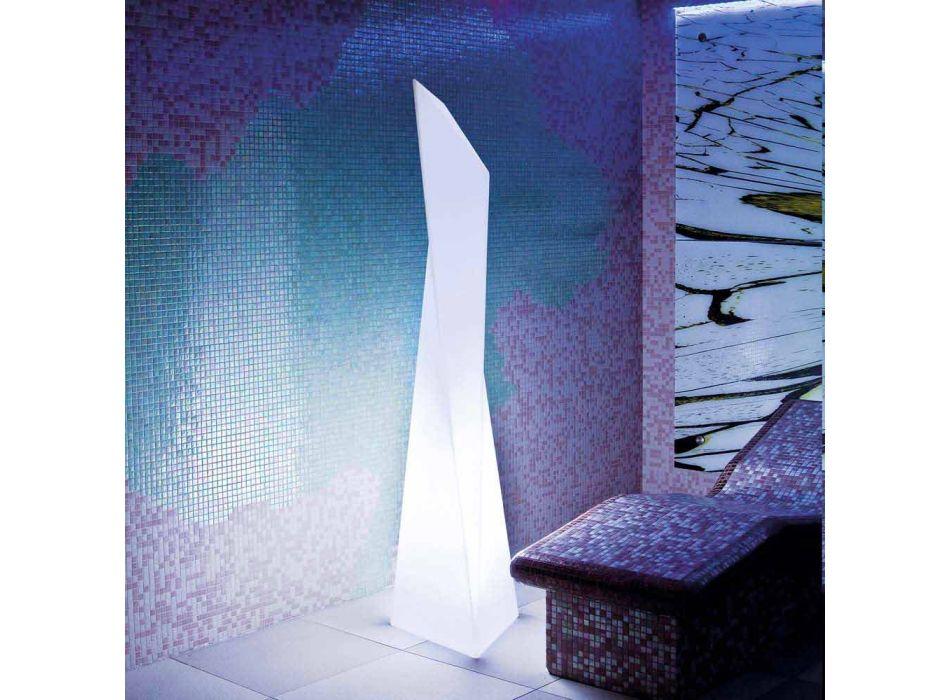 Lampada da interno luminosa Slide Manhattan a prisma bianca made Italy