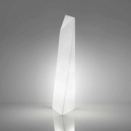 Lampada da terra moderna bianca a prisma Slide Manhattan, made Italy