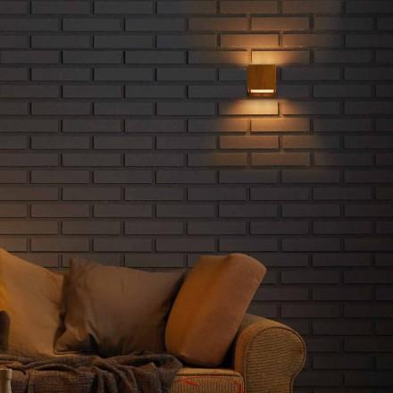 Lampada da muro di design in ottone eacciaio 11xH11xsp.10 cmVenere