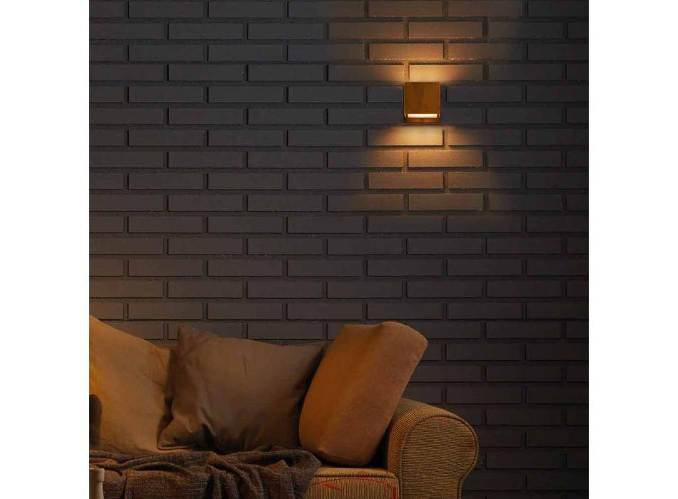 Lampada da muro di design in ottone eacciaio Ø11xh.11xsp.10 cmVenere