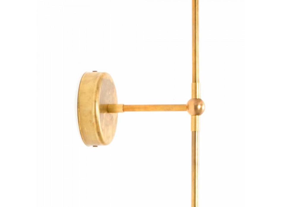 Lampada da Parete Artigianale con Struttura in Ottone Made in Italy - Carma