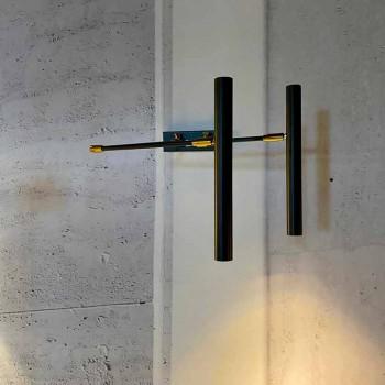Lampada da Parete Artigianale in Ferro, Alluminio e Ottone Made in Italy - Clia