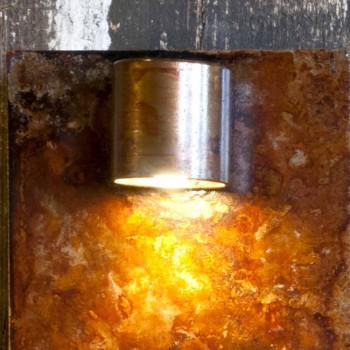 Lampada da Parete Artigianale in Ferro Finitura Corten Made in Italy - Cialda
