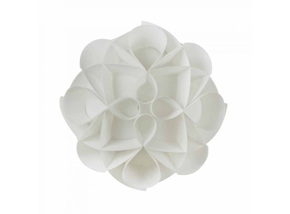 Lampada da parete bianco perla design moderno,diametro 28 cm,Lena