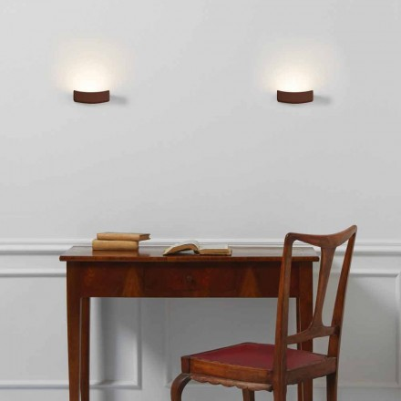 Lampada da parete design moderno in acciaio 13xH 3,5x Sp.10 cm Osea
