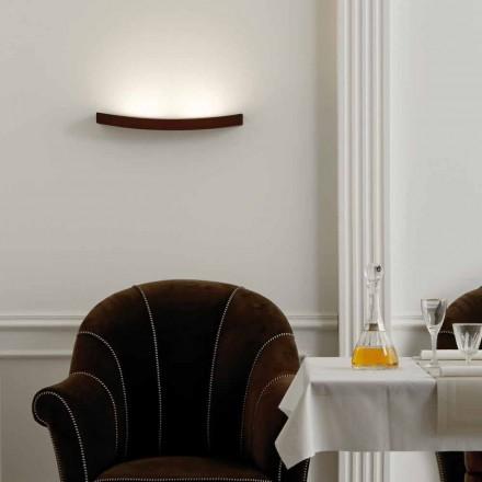 Lampada da parete design moderno in acciaio L50x H3,5xSp.10 cmEldora