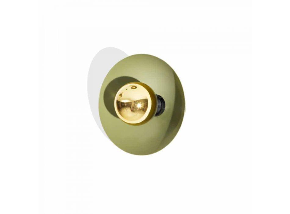 Lampada da Parete Design Moderno in Metallo con Decoro Oro Made in Italy - Valta