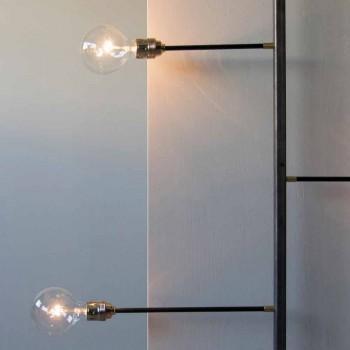 Lampada da Parete di Design con Struttura in Ferro Nero Made in Italy - Anima