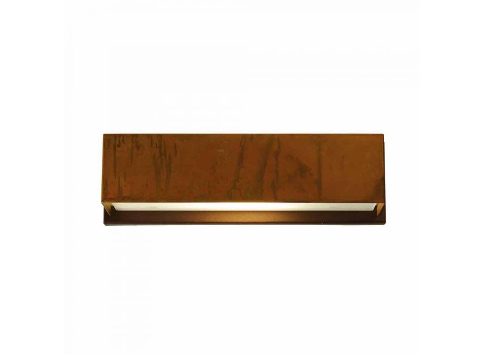 Lampada da paretedi design in ottone eacciaio Ø35xh.10xsp.9 cmHarya