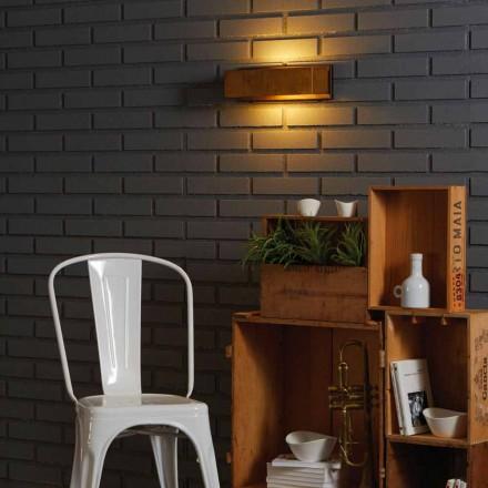 Lampada da paretedi design in ottone eacciaio 35xH 10xsp.9 cmHarya