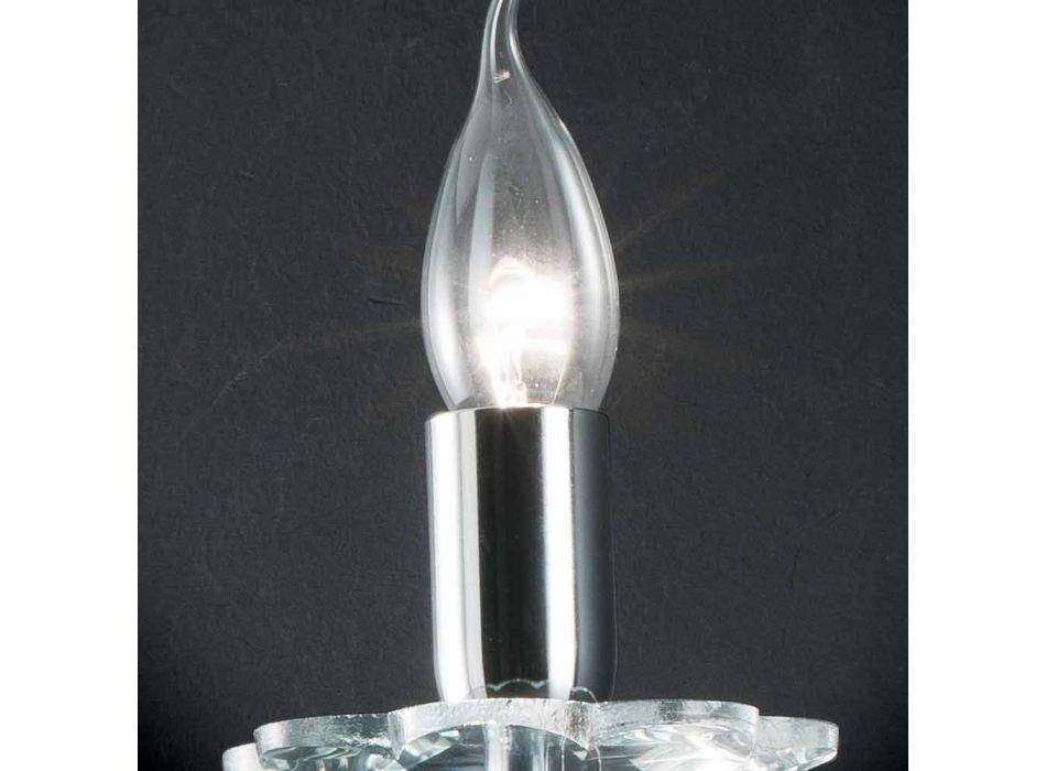 Lampada da parete di design in vetro e cristallo Ivy, made in Italy