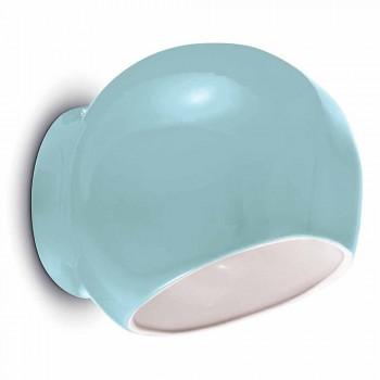 Lampada da Parete di Design Vintage in Ceramica Made in Italy – Ferroluce Ayrton