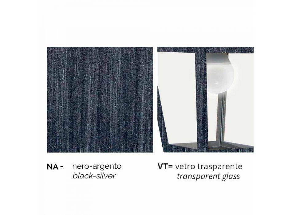 Lampada da parete esterno in alluminio realizzata in Italia, Aquilina