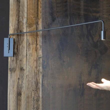 Lampada da Parete Fatta a Mano con Struttura in Ferro Made in Italy - Solana