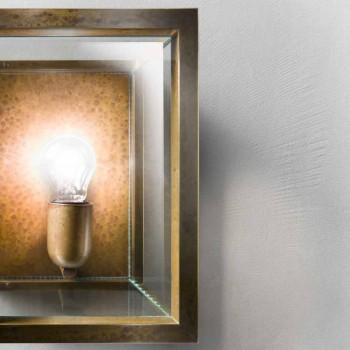 Lampada da parete grande in ottone e vetro Quadro Il Fanale