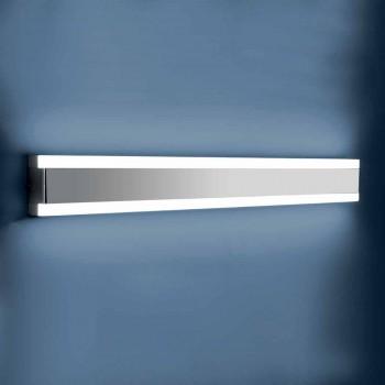 Lampada da Parete in Acciaio Inox, Plexiglass e Alluminio con Luce LED - Magneto