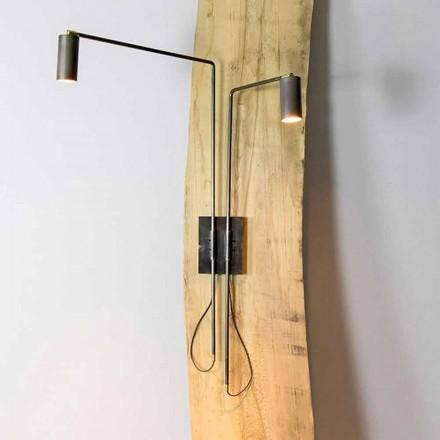 Lampada da Parete in Ferro e Alluminio Artigianale Made in Italy - Gemina