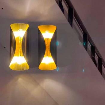 Lampada da Parete in Ferro e Alluminio Fatta a Mano Made in Italy - Giglia