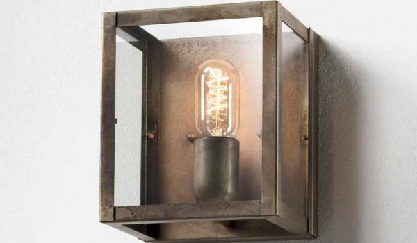 Lampada da parete in ferro stile industriale london il fanale