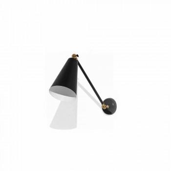 Lampada da Parete in Metallo con Dettagli in Finitura Oro Made in Italy - Zaira