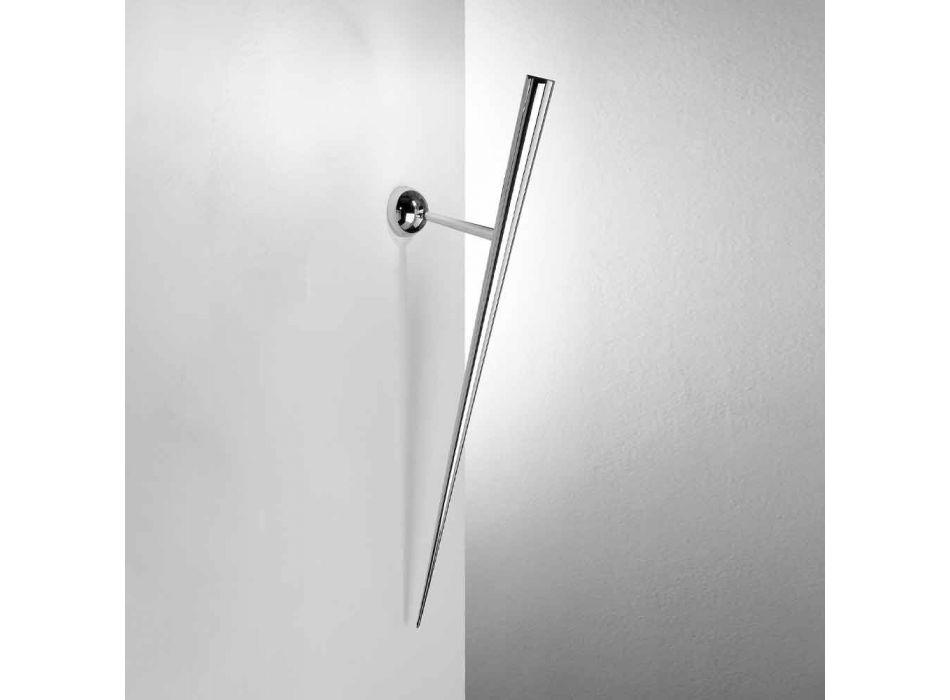 Lampada da Parete in Metallo Verniciato con LED Integrato Made in Italy - Trono