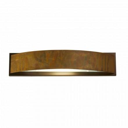 Lampada da paretein ottone e acciaio 49x H 10 xsp.9 cmBlandine
