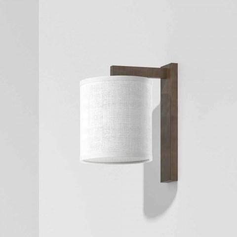 Lampada da Parete Moderna in Metallo con Paralume in Lino Made in Italy - Bali