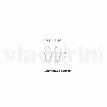 Lampada da parete per esterno in alluminio fatta in Italia, Aquilina